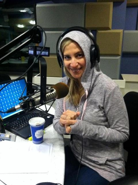 Christine Nagy, Radio Personality at 106.7 Lite FM - Working and freezing during Super Storm Sandy week.
