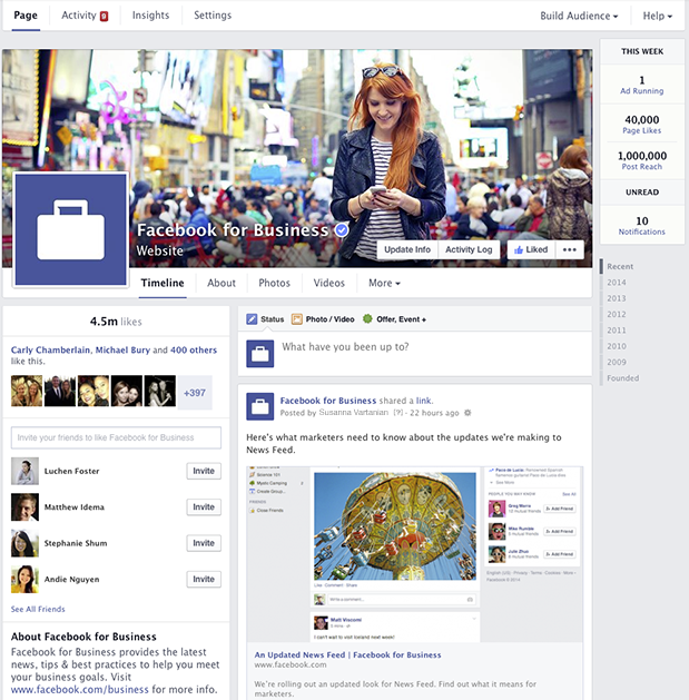 Facebook New Page 2014