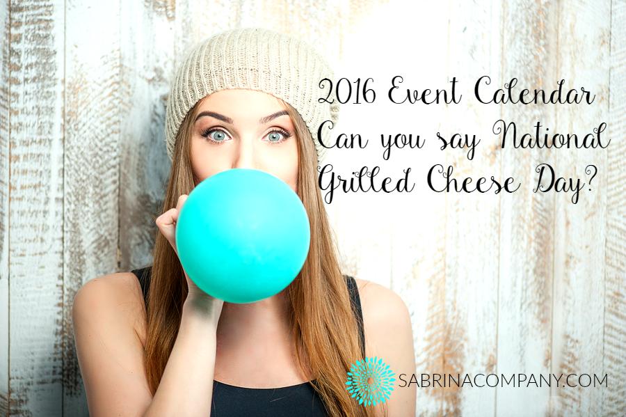 2016 Marketing Event Calendar For You