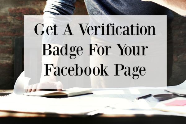 Get A Verification Badge On Your Facebook Page