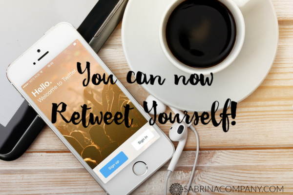 Retweet Yourself!